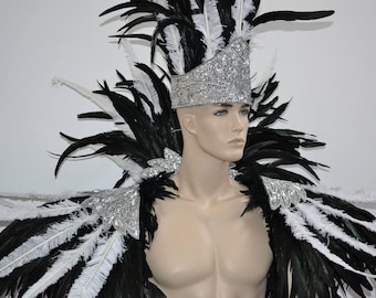 Ares Feather shoulder piece and showman headdress