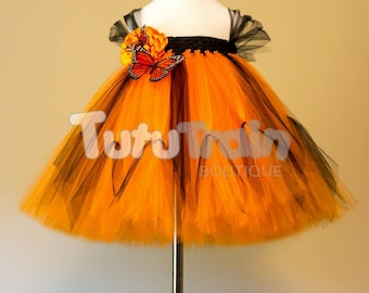 Monarch Butterfly Tutu Dress, Birthday Party, Photo Prop, Halloween Costume, Butterfly Costume