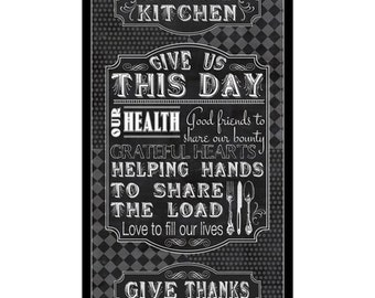 Thankful Prayer, Give Us This Day #23678 Cotton Fabric 24X44 Panels!