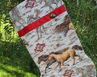 Southwest Horse Christmas Stocking