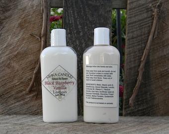 Black Rasberry Vanilla Hand Lotion! 4 oz aloe lotion, Vanilla scented lotion, Hemp Oil lotion, Dry Skin, Soft Hand, scented hand cream