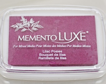 Memento Luxe Stamp Pad -- Lilac Posies -- Mixed Media Full Size Stamp Pad