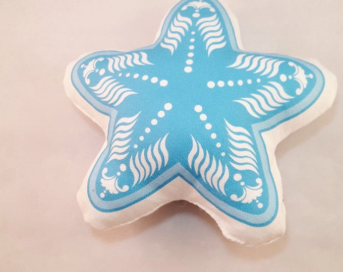Plush Blue Starfish- Baby Rattle