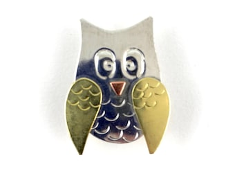 Owl Needle Minder Puffin Needle Nanny Copper Knitting Pattern Holder Owl Needle Keeper Needle Accessory Needlepoint Crewel Sewing Notion
