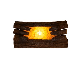Fabulous Fake Fire - Vintage Fireplace Logs - Electric - Real Wood - Faux Fire