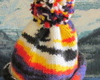 KBC 005 Hand knit baby cap 0 to 3 months