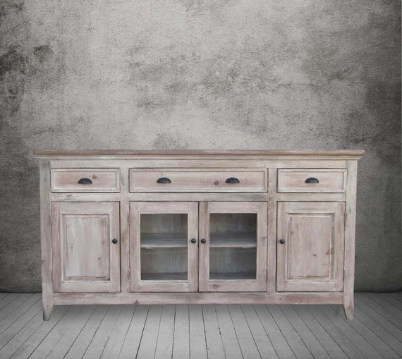 Sideboard Media Console Reclaimed Wood Buffet Table TV