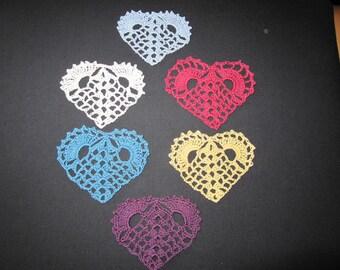 6 crochet heart