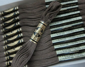 008, Dark Driftwood, DMC Cotton Embroidery Floss - 8m Skeins - Available in Full (12-skein) Boxes - Get Up To 50% OFF, see Description