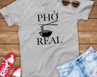 Pho Real | Funny Unisex Gift for Noodle Lover, Send Noods, Ramen - Unisex Shirt