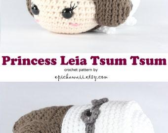 PATTERN: Princess Leia Tsum Tsum Crochet Amigurumi Doll