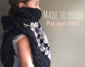 Made to order: Chunky Fall Festival wrap shawl
