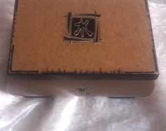 golden sand jewelry box black, symbol of love, box decoration