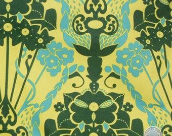140258369 - Anna Maria Horner Drawing Room Nouveau Bouquet Green FULL BOLT