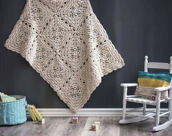 Flower Petal Baby Blanket - Crochet PATTERN