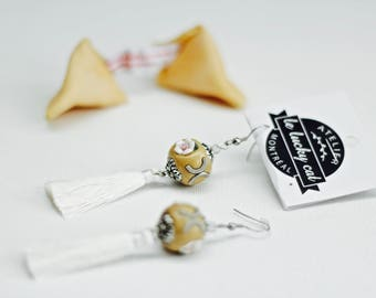 "Earrings tassels ""leluckyflower"""