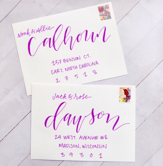 Wedding Envelope Calligraphy, Envelope Calligraphy, Wedding Envelope Addressing, Envelope Addressing, Wedding Calligrapher, Custom Envelopes