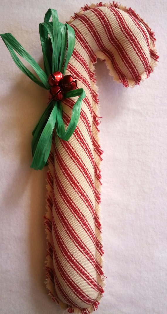 Candy Cane Fabric Candy Cane Pillow Ticking
