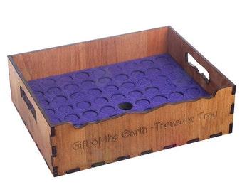 Essential Oil storage tray -holds 63 bottles- Wood, holds 5ml 10ml 15ml and similar diameter roller bottles. Oil storage