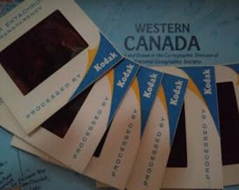 Vintage 1960 35mm Kodak Color Slides - Banff Hot Springs - Banff National Park- Canada
