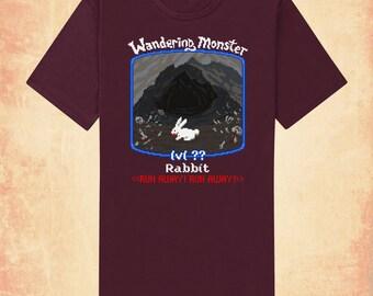 White Rabbit adult men's/unisex t-shirt inspired by Monty Python