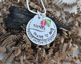 unique sister gifts - sister necklace - sister gifts -for sister -sister birthday gift - unique gifts for sisters - sister - sister matching
