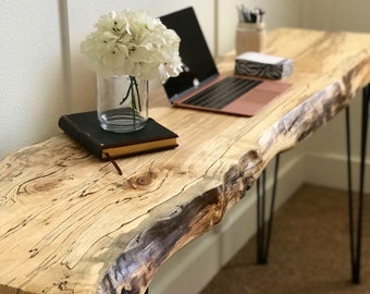 Live Edge Table / Live Edge Desk / Live Edge Sofa Table / Desk / Live