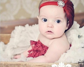 Baby Feather Headbands Baby Girl, Flapper Headbands Fascinator, Red Baby Headbands Baby Shower, Vintage Headbands, Baby Photo Prop Newborn