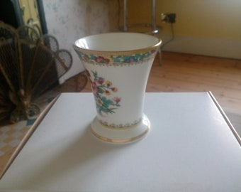 "Lovely Coalport ""Ming Rose"" vase with stamp.  12125"