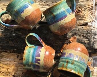 Rainbow Ocean Love Ceramic Mug