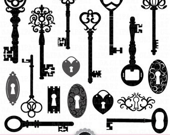 skeleton key clipart etsy rh etsy com skeleton key clipart black and white skeleton key clipart black and white