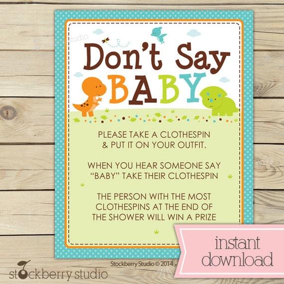 dinosaur baby shower don t say baby printable