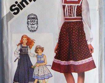 Simplicity 5119.  Gunne Sax by Jessica McClintock.  1980's Gunne Sax dress pattern.  Girl size 12.  Unused, uncut.