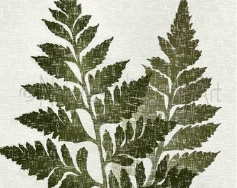 Vintage Style Botanical Art, 8 x 10 Print, Fern Wall Art, Green Decor, Natural Colors, Leaf Art (18)
