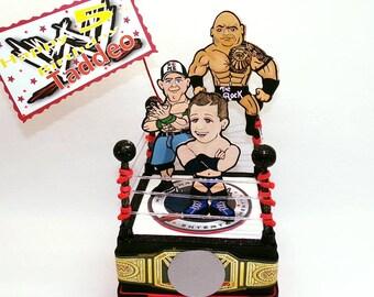 Wrestler birthday, Wrestlers party, Wrestling gifts, unique cake toppers, Wrestlers cake, sumo wrestler, birthday centerpieces