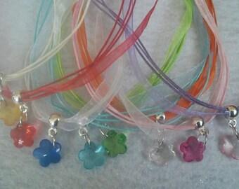 10 Flower Necklaces Party Favors.