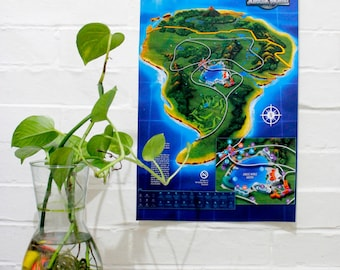 Map of jurassic park etsy jurassic world map exclusive gumiabroncs Image collections
