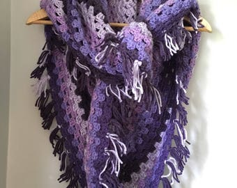 Crochet shawl/wrap/scarf. Crochet shawl. Crochet scarf. Triangular shawl.