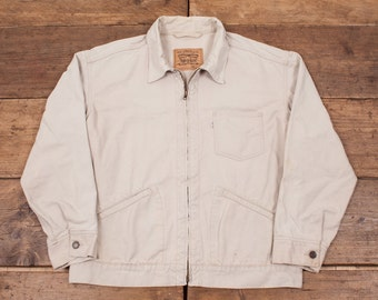 "Mens Vintage Levis Lightweight Denim Harrington Workwear Jacket Size XL 48-50"" R3699"
