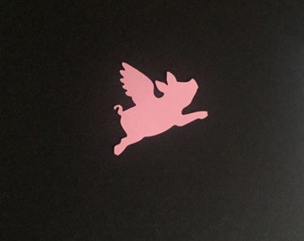 Flying pig, when pigs fly  diecuts in any color set of 8