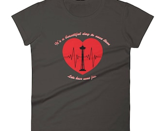 Grey's Anatomy TV show inspired T-shirt. It's a great day to save lives, lets have some fun.