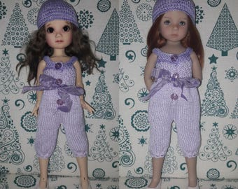 Hand Knit Doll set for DIanna Effner Little Darling, Liz Frost Mia/Fifi BJD and other 33-35 cm dolls