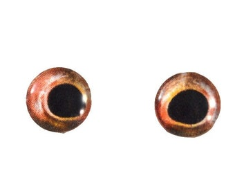 SALE Glass Fish Eyes - 10mm - Glass Eyes - Red