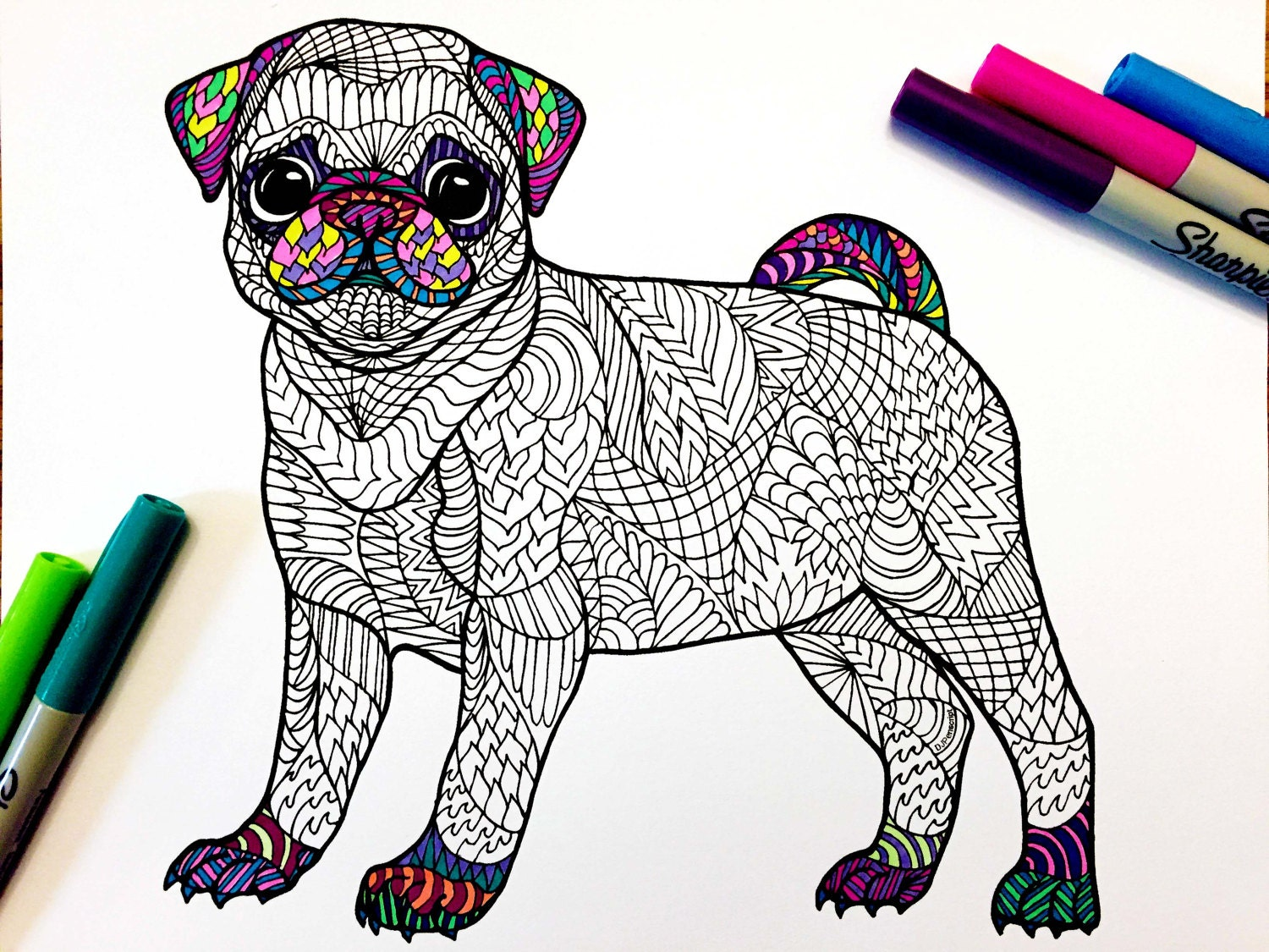 zoom - Zentangle Coloring Pages For Adults