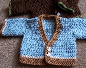 Crocheted Newborn Sweater
