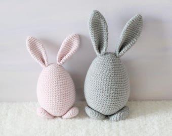 Nursery bunny decor, crochet buny, Crochet Easter rabbit, crochet Easter decor, nursery decor rabbit, home decor figure