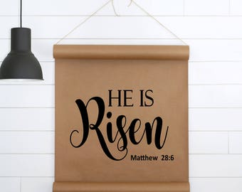Easter Sign,Paper Scroll,Scripture Wall Art,Springtime Decor,Cottage Sign,Farmhouse Sign,Farmhouse Wall Decor,Gift For Her,Gift For women