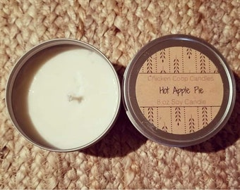 Hot Apple Pie 8oz Soy Candle