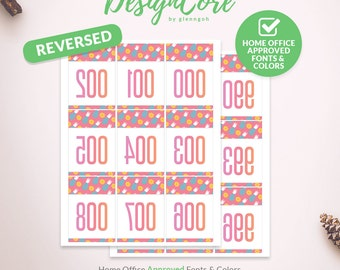 Facebook Live Sale Reversed Mirrored Number Tag, 000 - 999, Home Office Approved, Pineapple Fruit, Instant Download, Clean Fashion, DCLST010