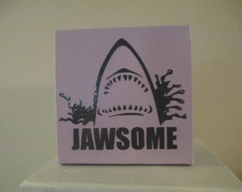 Jaws Jawsome Horror Sign Shelf Sitter Home Decor Funny Gift